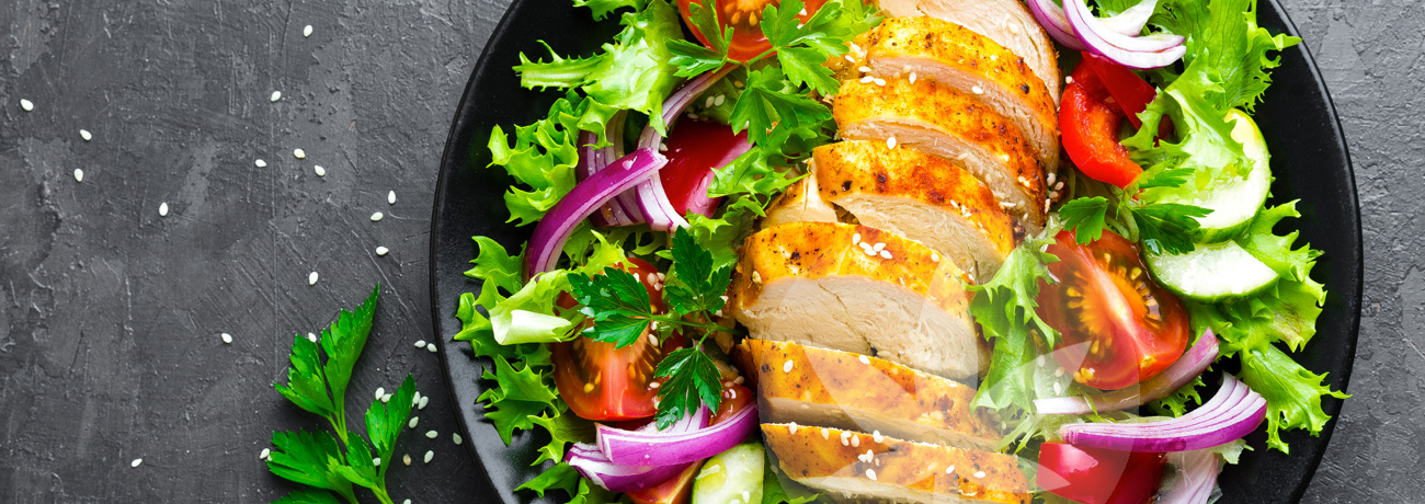 Salade de poulet avec CBD